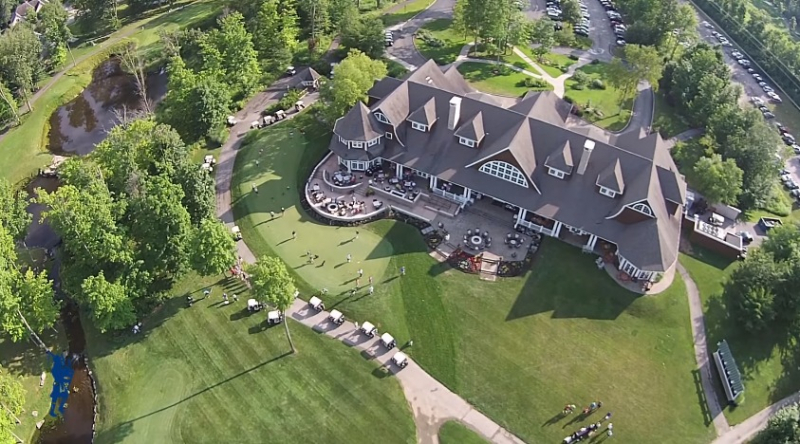 aerial view of back of the Clubhouse