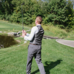 groom hitting shot