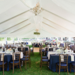 tent with reception tables